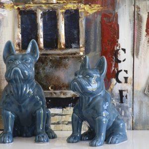 Cão Cerâmica Azul - Complementos de Decoração - Decor Império