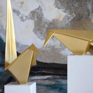 Pássaro Origami Dourado - Complementos de Decoração - Decor Império