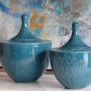 Pote Cerâmica Turquesa - Complementos de Decoração - Decor Império