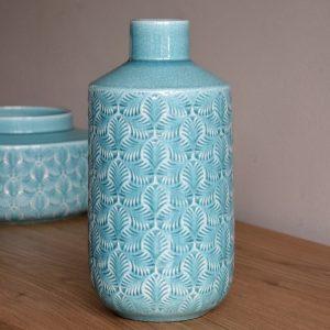 Jarra Cerâmica Turquesa - Complementos de Decoração - Decor Império