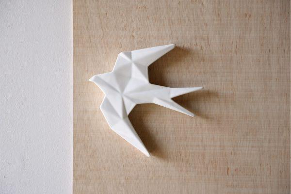 Andorinha Cerâmica Branca Pequena - Complementos de Decoração - Decor Império