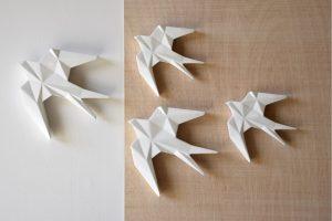 Andorinha Cerâmica Branca - Complementos de Decoração - Decor Império