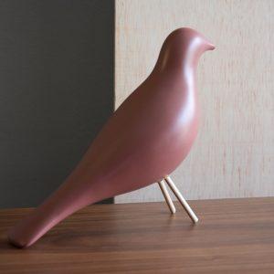 Pássaro Cerâmico Rosa Escuro - Complementos de Decoração - Decor Império