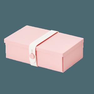 Uhmm Retangular Rosa - Branca