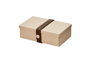 Uhmm Box Retangular Creme - Castanha
