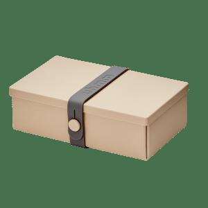 Uhmm Box Retangular Creme - Cinza