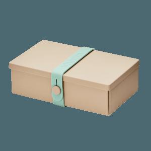 Uhmm Box Retangular Creme - Verde Menta