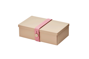 Uhmm Box Retangular Creme - Rosa