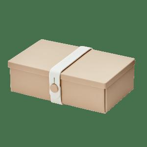 Uhmm Box Retangular Creme - Branca