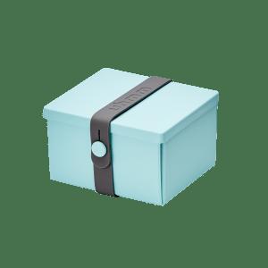 Uhmm Box Quadrada Verde Menta - Cinza