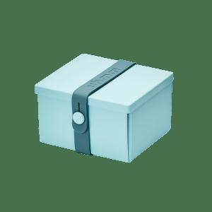 Uhmm Box Quadrada Verde Menta - Azul Petróleo