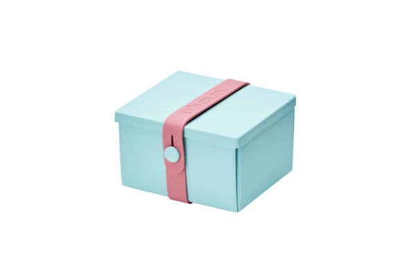 Uhmm Box Quadrada Verde Menta - Rosa