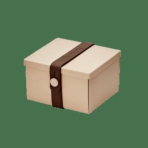 Uhmm Box Quadrada Creme - Castanha