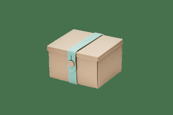 Uhmm Box Quadrada Creme - Verde Menta