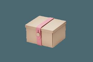 Uhmm Box Quadrada Creme - Rosa