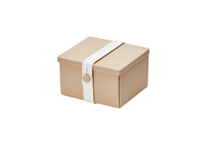 Uhmm Box Quadrada Creme - Branca