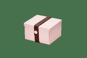 Uhmm Box Quadrada Rosa - Castanha