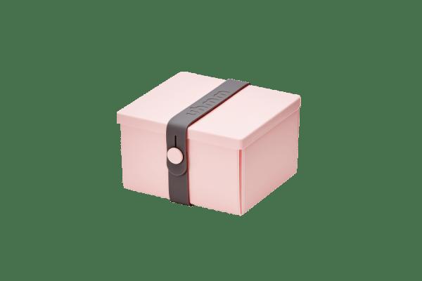 Uhmm Box Quadrada Rosa - Cinza