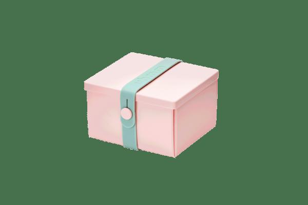 Uhmm Box Quadrada Rosa - Verde Menta