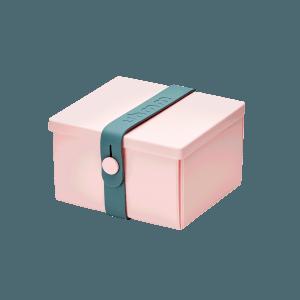 Uhmm Box Quadrada Rosa - Azul Petróleo