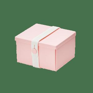 Uhmm Box Quadrada Rosa - Branca