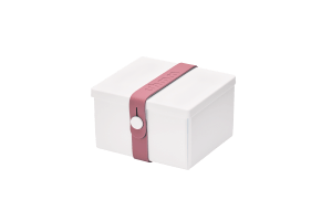 Uhmm Box Quadrada Branca - Rosa
