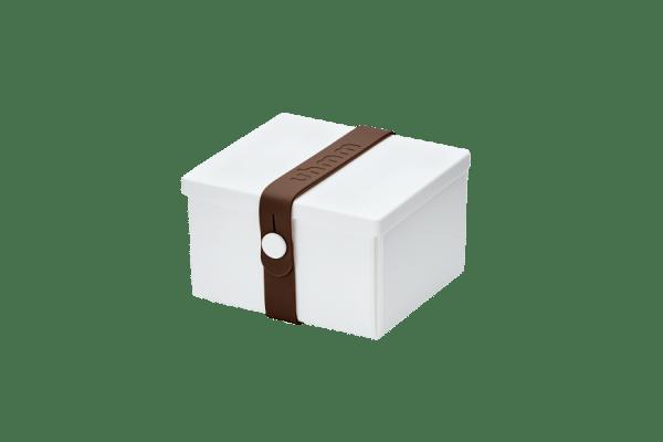 Uhmm Box Quadrada Branca - Castanha