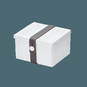 Uhmm Box Quadrada Branca - Cinza