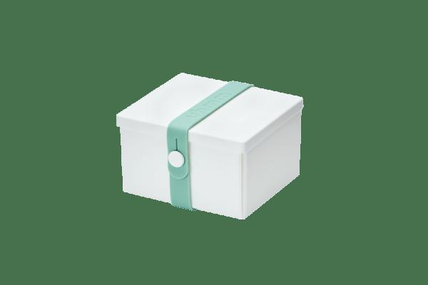 Uhmm Box Quadrada Branca - Verde Menta