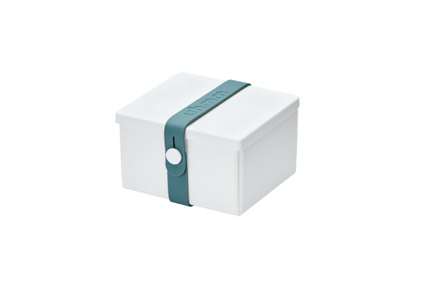 Uhmm Box Quadrada Branca - Azul Petróleo
