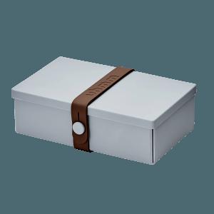Uhmm box Retangular Cinza - Castanha