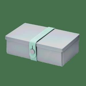 Uhmm box Retangular Cinza - Verde Menta