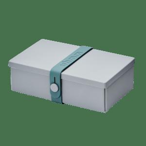 Uhmm box Retangular Cinza - Azul Petróleo