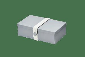 Uhmm box Retangular Cinza - Branca
