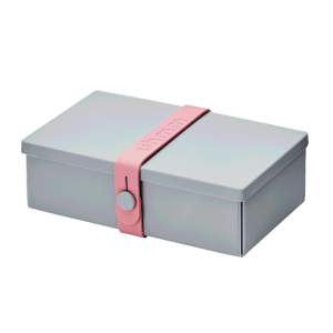 Uhmm box Retangular Cinza - Rosa