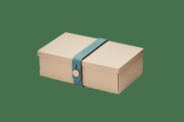 Uhmm Box Retangular Creme - Azul Petróleo