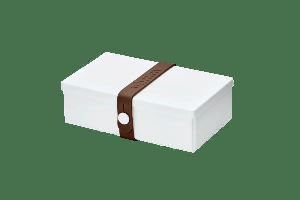 Uhmm box Retangular Branca - Castanha