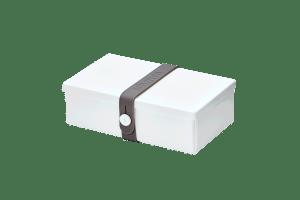 Uhmm box Retangular Branca - Cinza