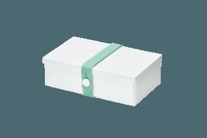 Uhmm box Retangular Branca - Verde Menta