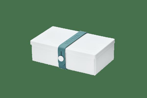 Uhmm box Retangular Branca - Azul Petróleo