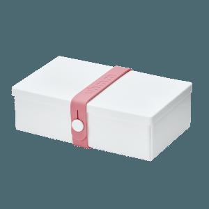 Uhmm box Retangular Branca - Rosa